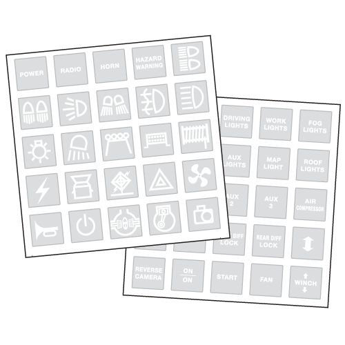 4WD Sticker Set by Narva