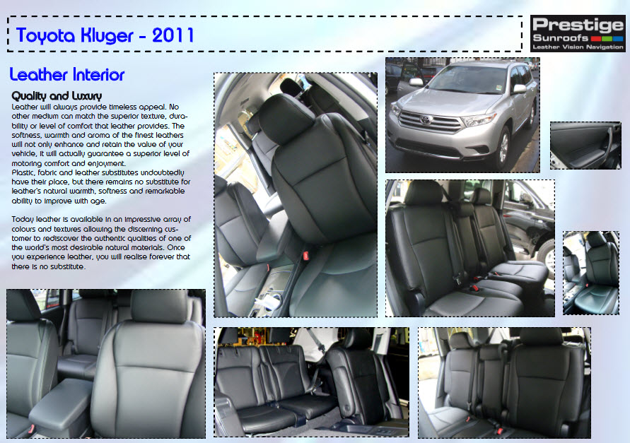Kluger Leather Trim 7 Seat
