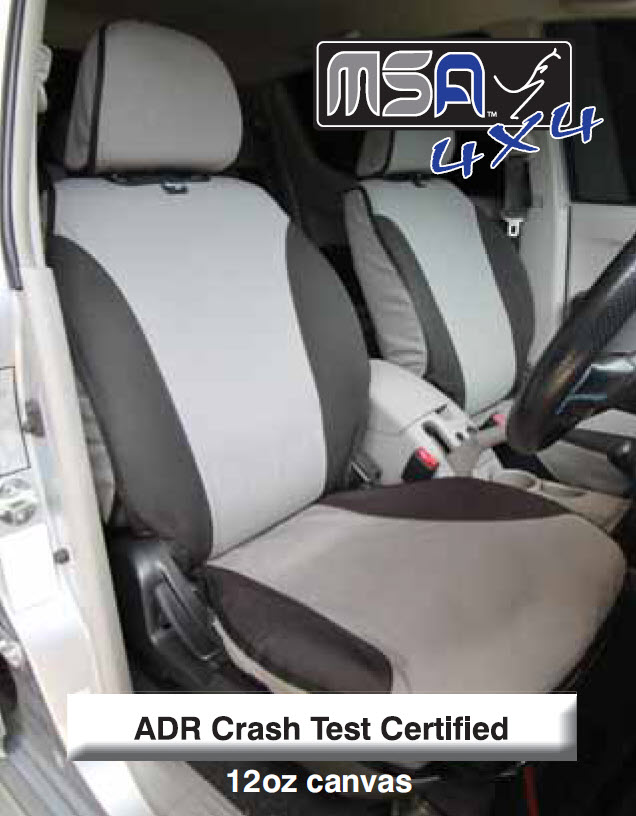 MSA 4x4 Canvas Seat Covers - Price on application