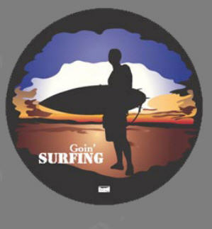 "Spare Wheel Cover - ""Goin' Surfing"""